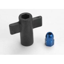 Antenna crimp nut aluminum (blue-anodized)/ antenna nut too