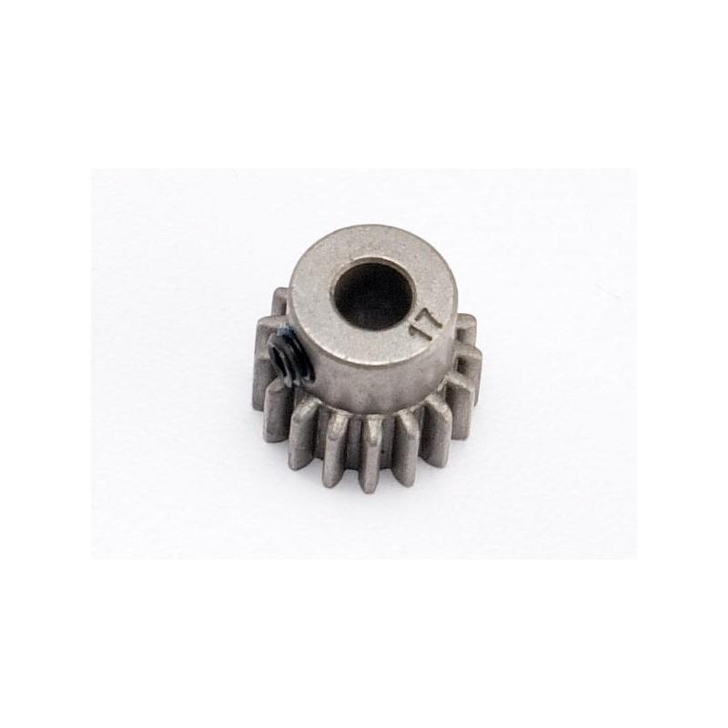 Piñón 17-T Dientes (paso 32p.) para eje de 5mm. con tornillo de ajuste