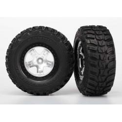 Neumáticos completos ensamblados, Aro Negro (2pcs
