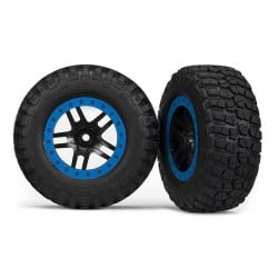 Ruedas completas, ensambladas, Aro azul (2WD delanteras) (2pcs)