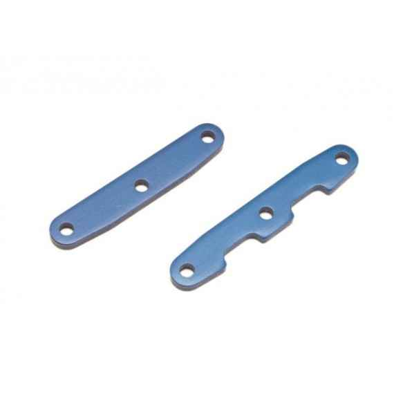 Bulkhead tie bars front & rear aluminum (blue-anodized)