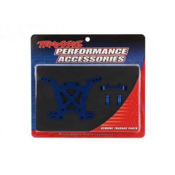 Shock tower rear aluminum (blue-anodized)