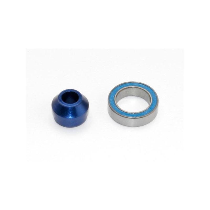 Cojinete con Adaptador de aluminio 6061-T6 (anodizado en azul) (1pcs)