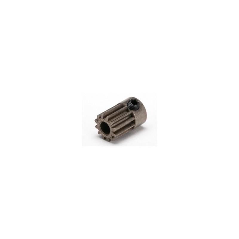 Piñón 12-T Dientes (paso 48p.) para eje de 3mm. con tornillo de ajuste. (slash 1/16)