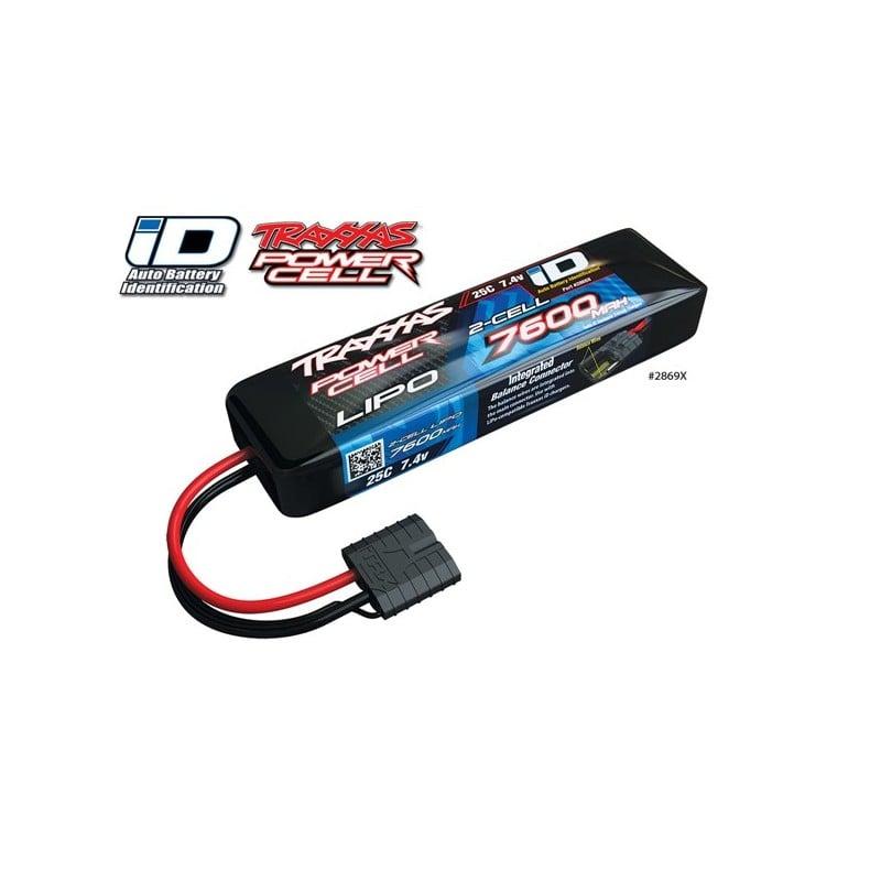 Traxxas LiPo 7600mAh 7.4V 2S 25C Summit E-Revo Slash, con sistema ID