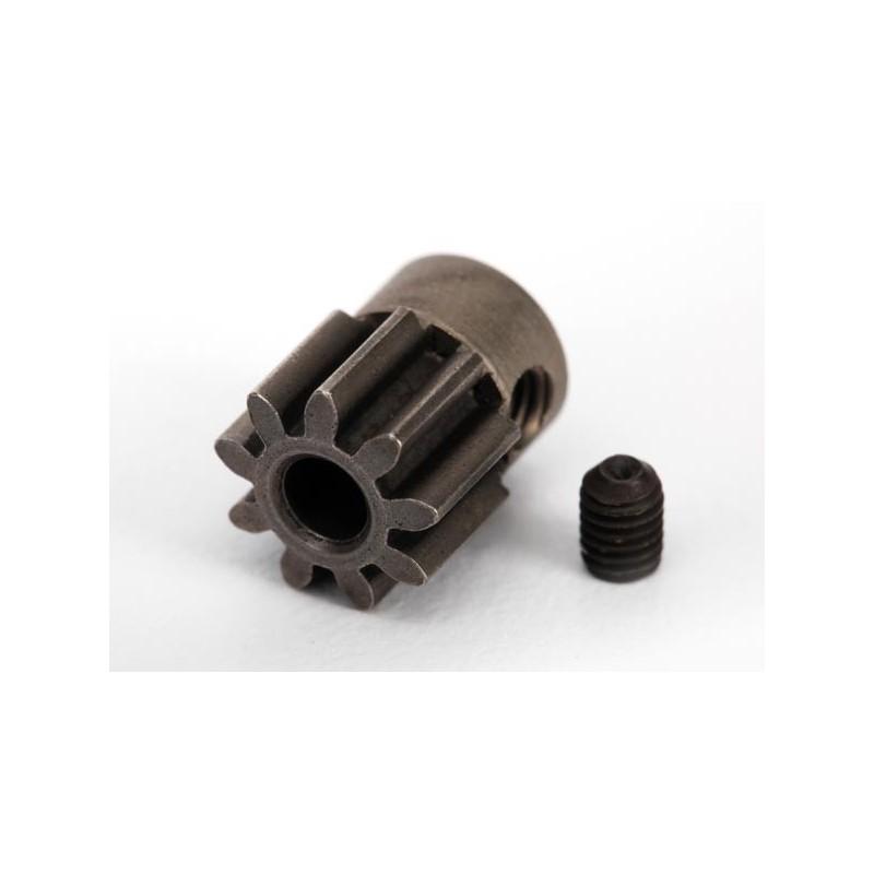 Piñón 9-T Dientes (paso 32p.) (acero) para eje de 3mm.TRX-4 con tornillo de ajuste,