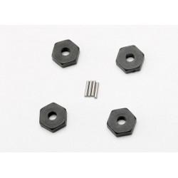 Hexágonos de rueda, con pin (4pcs) (1.5x8mm) (4) Slash 1/16