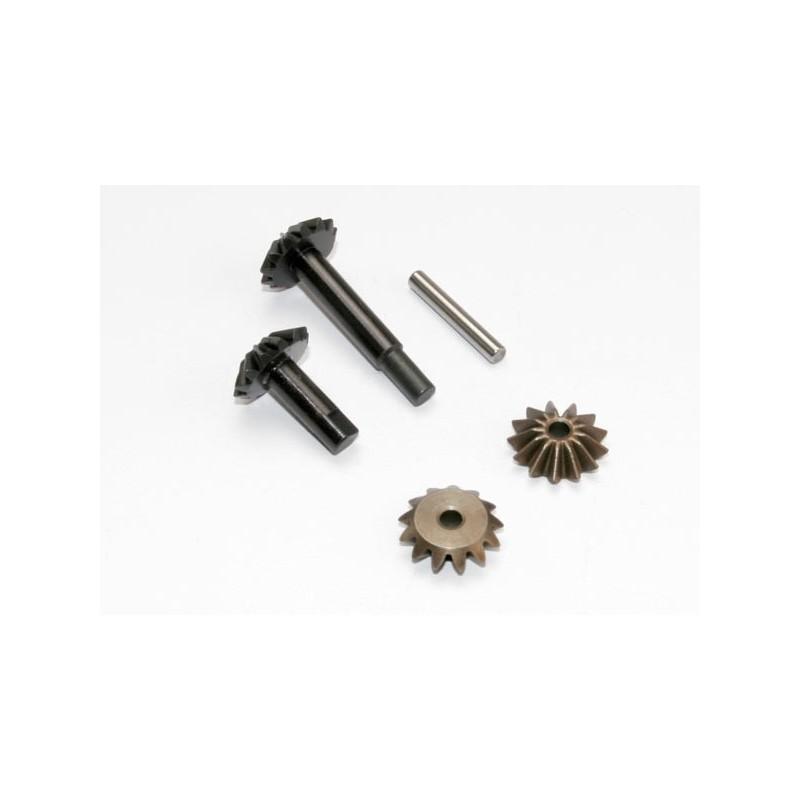 Conjunto de engranajes, diferencial central (engranajes de salida (2) / engranajes de araña (2) / eje de engranaje de araña)