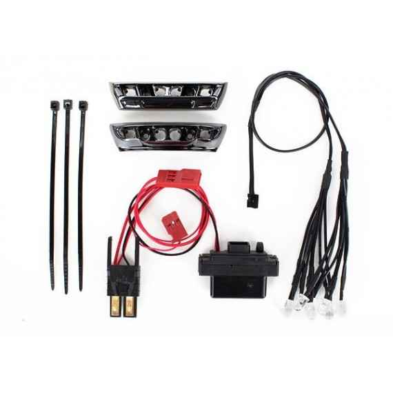 LED light kit 1/16 E-Revo (includes power supply front & rear bumpers light harness (4 clear 4 red) wire ties