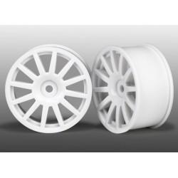 Wheels 12-Spoke (White) (2) LATRAX Rally