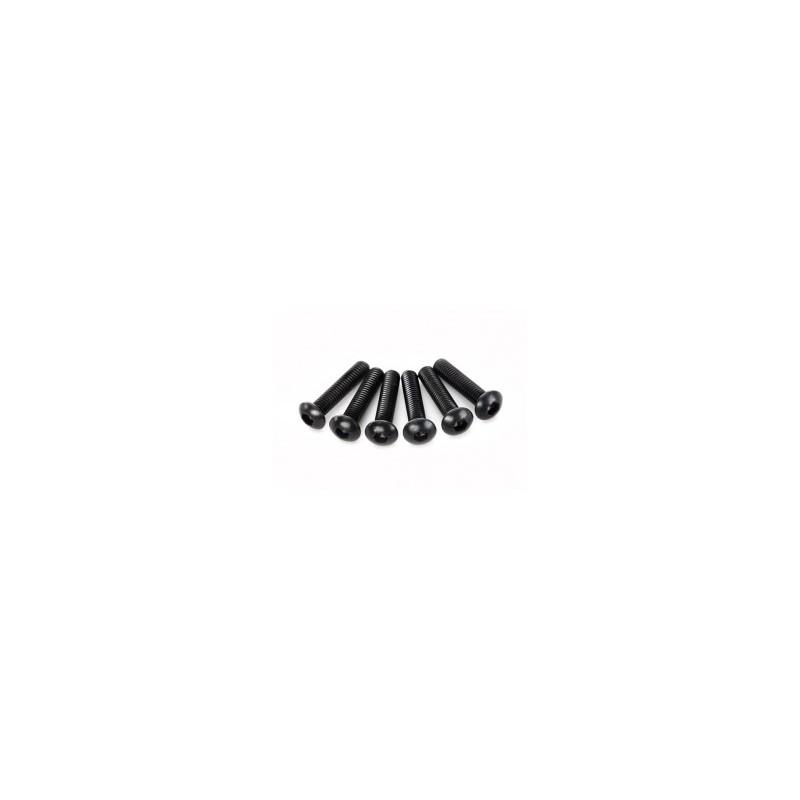 Tornillos de 3X14mm. cabeza de botón (hexagonal) (6pcs)