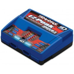 Charger EZ-Peak Plus 100W Duo LiPo/NiMH with iD Aut Bat EU trx2972G