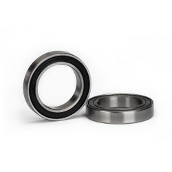 Ball bearing black rubber sealed (17x26x5mm) (2)