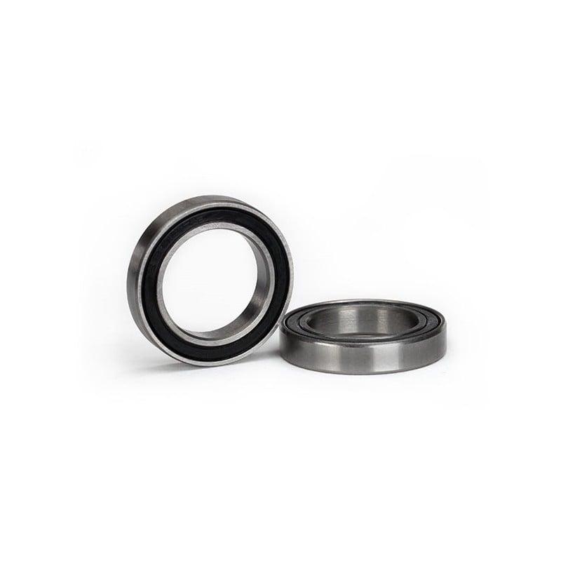 Rodamiento de bolas de caucho negro sellado (17x26x5mm) (2)
