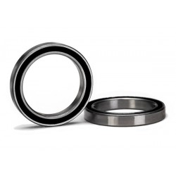 Rodamiento de bolas (20x27x4mm) de caucho negro sellado (2pcs)