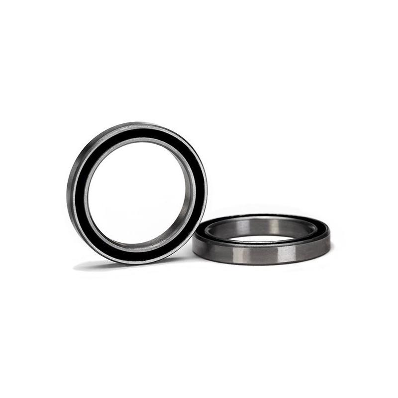 Rodamiento de bolas de caucho negro sellado (20x27x4mm) (2pcs)