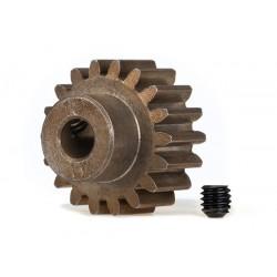 Piñón 18-T Dientes (paso 1.0 metrico) para eje de 5mm. con tornillo de ajuste