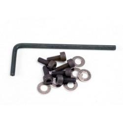 Tornillos de 3x8 Cabeza Cilíndrica de la placa posterior (hexagonal) / arandelas (6) / llave
