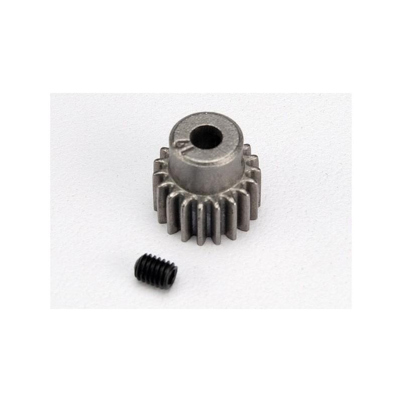 Piñón 19-T Dientes (paso 48p.) para eje de 3mm. con tornillo de ajuste
