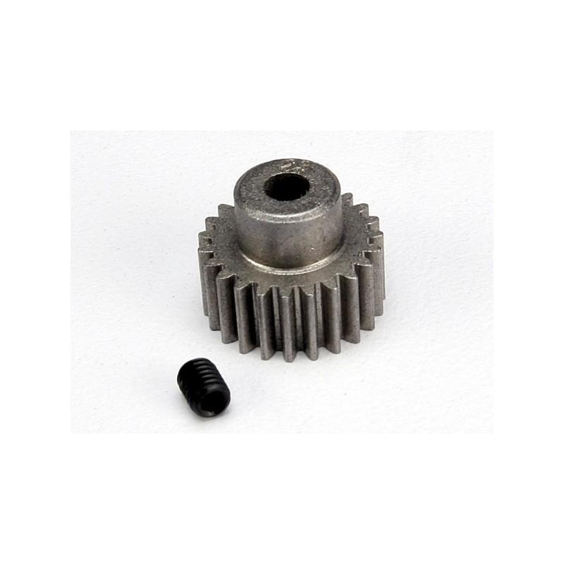 Piñón 23-T Dientes (paso 48p.) para eje de 3mm. con tornillo de ajuste(Bandit Stampede Slash1/16)