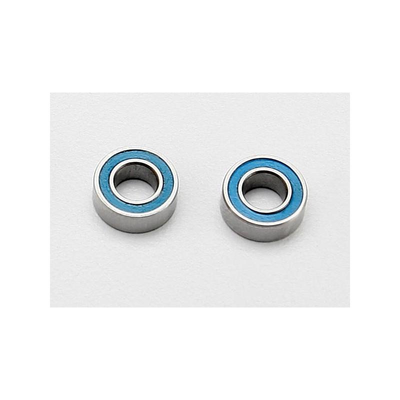 Rodamientos de bolas sellados con caucho azul (4x8x3mm) (2pcs)