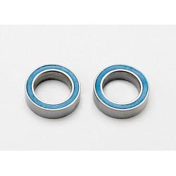 Rodamientos de bolas (8x12x3.5mm) sellados con goma azul (2pcs)