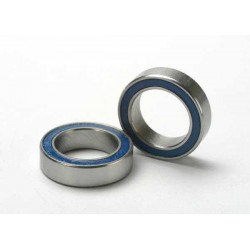 Ball bearings blue rubber sealed (10x15x4mm) (2pcs)