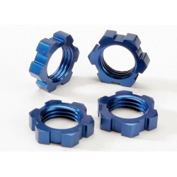 Wheel nuts splined 17mm (blue-anodized) (4)