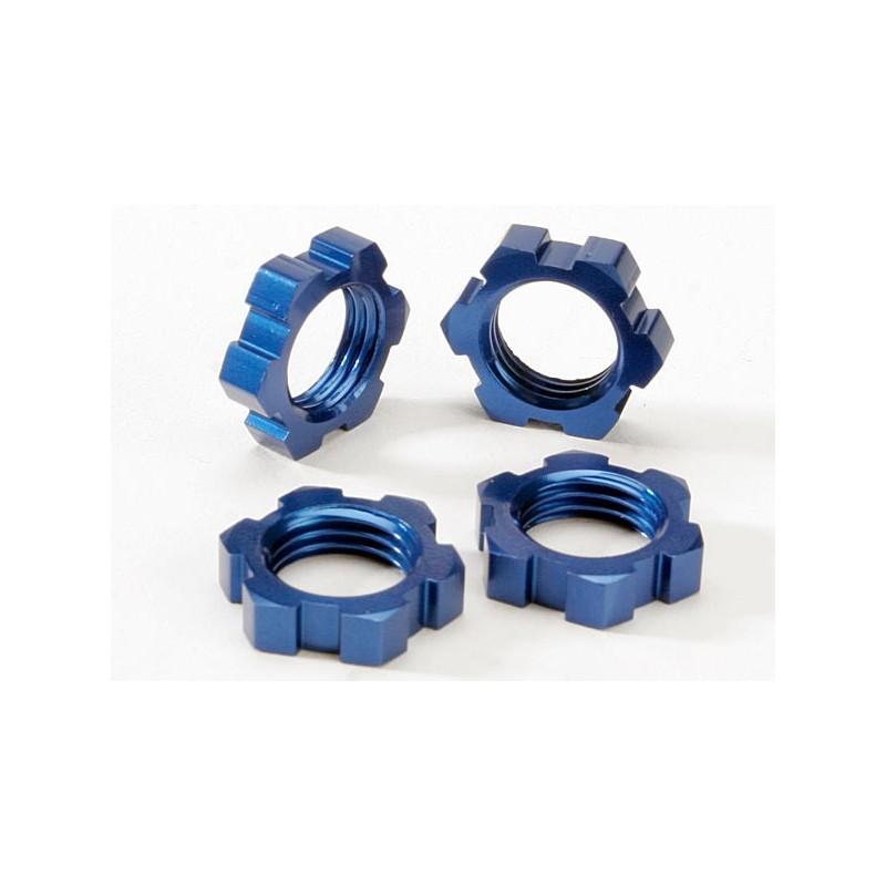 Tuercas de rueda estriadas 17 mm (anodizado azul) (4)