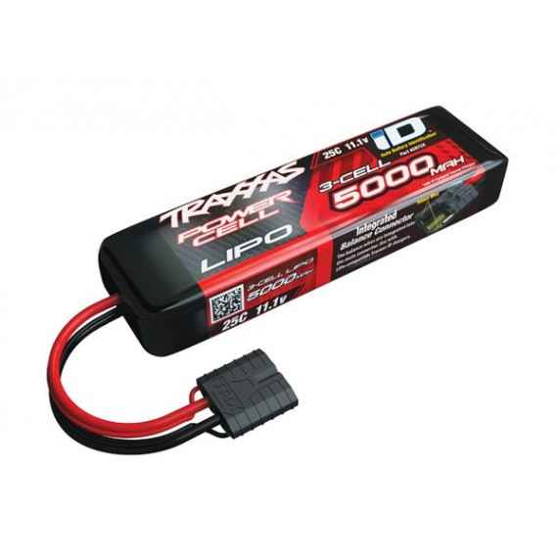 Power Cell LiPo 5000mAh 11.1V 3S 25C ID Summit E-Revo Sl
