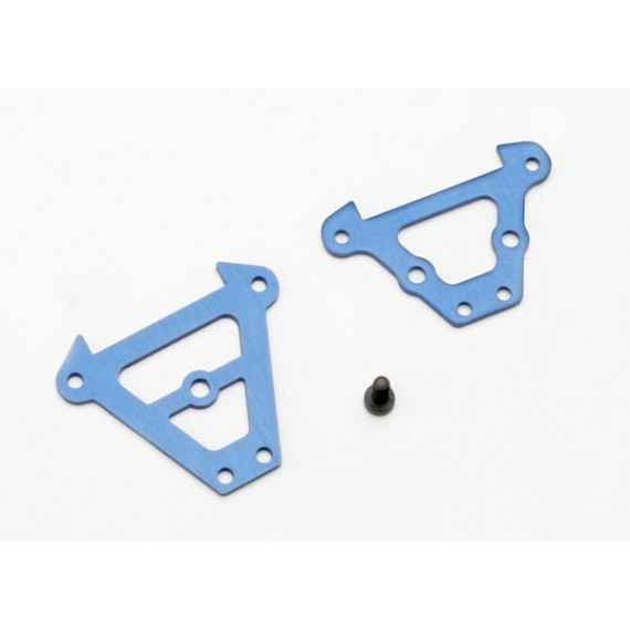 Bulkhead tie bars front & rear (blue-anodized aluminum)/ 2.