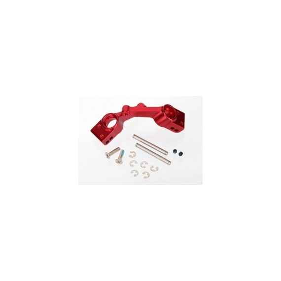 Carriers stub axle (red-anodized 6061-T6 aluminum)(rear)(2)