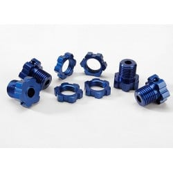 Bujes de rueda estriados 17 mm (anodizado) (4) / tuercas de rueda