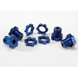 Wheel hubs splined 17mm (blue-anodized) (4)/ wheel nuts splined