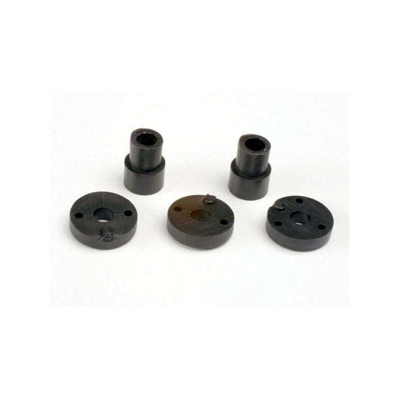 Juego de cabeza de pistón (2 agujeros (2) / 3 agujeros (2)) / arandelas y arandelas de montaje de choque (2)