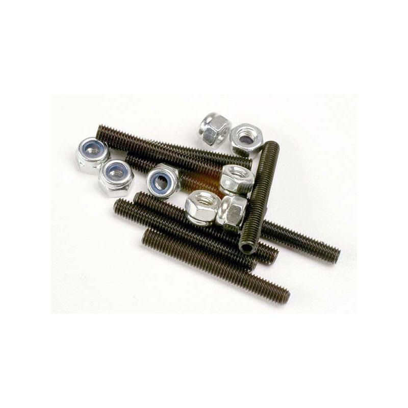 Set (grub) screws 3x25mm (8)/ 3mm nylon locknuts (8)