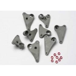 Juego de balancines, progresivo-2 (90-T) / espaciadores (aluminio rojo) (8)