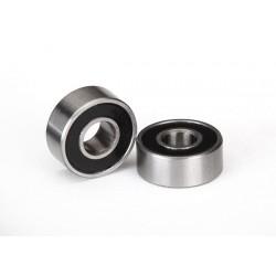 Rodamientos de bolas (5x10x4mm) sellados con caucho negro (2pcs)