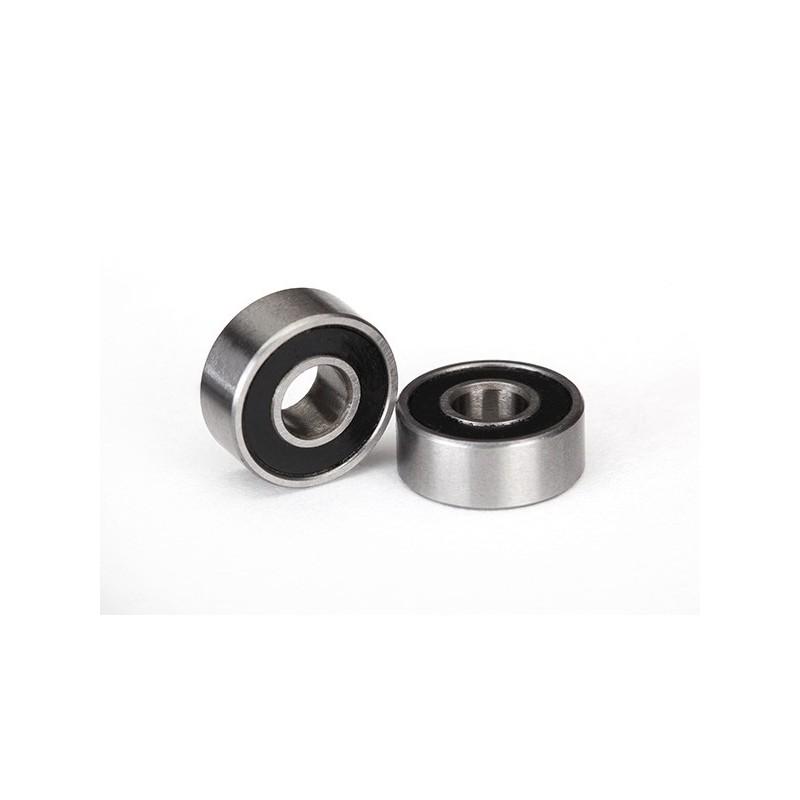 Rodamientos de bolas sellados con caucho negro (5x10x4mm) (2)