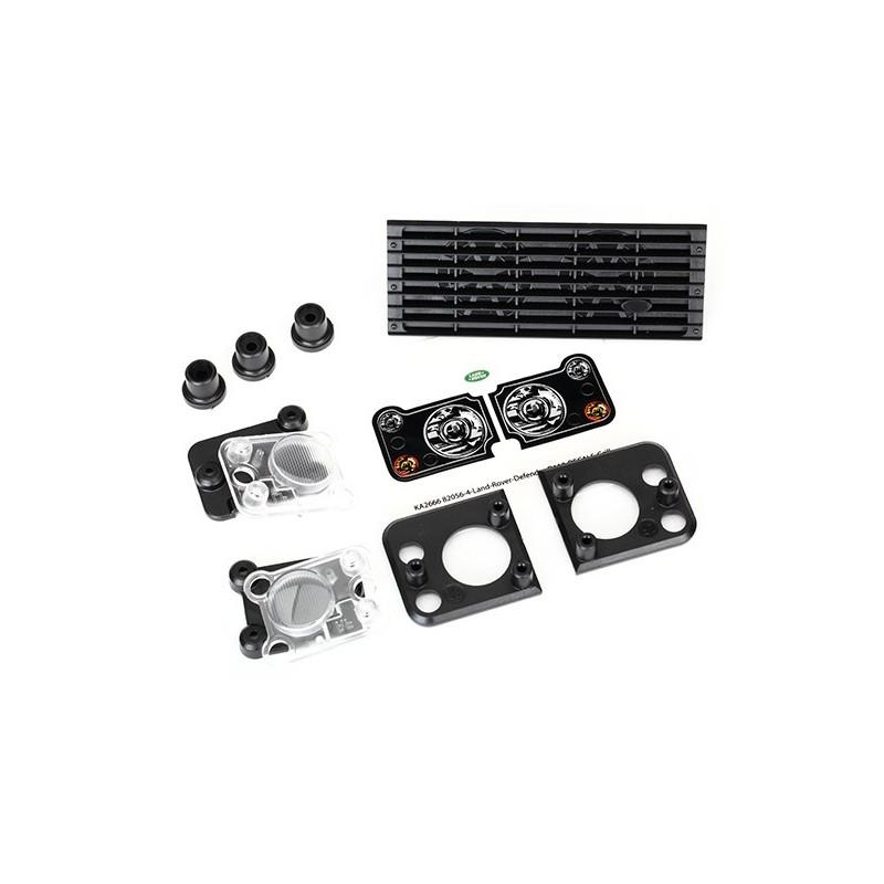 Parrilla Land Rover Defender / montaje en parrilla (3) / carcasa del faro (2) / lente (2)