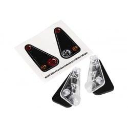 Carcasa de la luz trasera (2) / lente (2) / calcomanías (izquierda y derecha) (se adapta al cuerpo TRX8011)