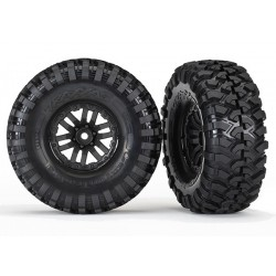 Tires and wheels assembled glued TRX-4 wheels Canyon Trail 1.9 tires (2)