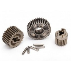 Gear set, transmission, metal (includes 18T, 30T input gears, 36T output gear, 2x10.3 pins (5))