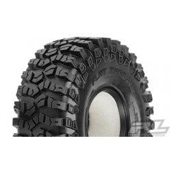 "Flat Iron 1.9"" XL G8 Rock Terrain Truck Tires w/Memory Foam para Crawler (2PCS)"