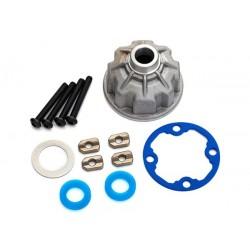 Soporte, diferencial (aluminio) / juntas de anillo en X (2) / junta de engranaje de anillo / espaciadores (4)