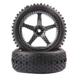 Ruedas 1/10 Buggy Tire (Narrow) (2pcs)