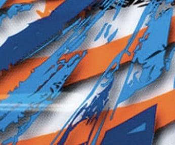 Naranja-azul